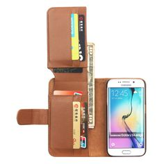 7 Card-slots Wallet PU Leather Case For Samsung Galaxy S6 Edge Plus