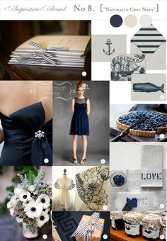 Navy and Cream: Rustic Chic