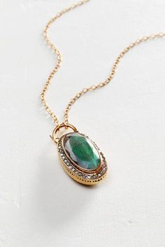 Moonstone and Labradorite Scepter Pendant Necklace in 14k Rose Gold by Arik Kastan | Pinned by topista.com