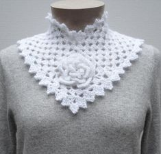 Flower Square Collar – PA-124e – A crochet pattern from Nancy Brown-Designer. This beautiful accessory requires some advanced crochet experience. Start with a flower granny square for the center front and add the sides. Fasten with a crocheted button and you have a soft, warm and elegant winter accessory. This pattern PDF can be purchased at my LoveCrochet Pattern Store for $3.49, just click on the photo.