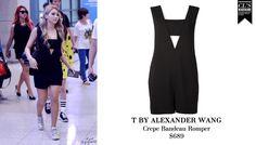 CL | ALEXANDER WANG Crepe Bandeau Romper
