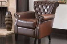 online shopping for Christopher Knight Home 232936 Franklin Tufted Bonded Leather Club Chair, Brown from top store. See new offer for Christopher Knight Home 232936 Franklin Tufted Bonded Leather Club Chair, Brown Living Room Chairs, Living Room Furniture, Dining Chairs, Rustic Furniture, Outdoor Furniture, Leather Club Chairs, Cozy Nook, Upholstered Chairs, Upholstery
