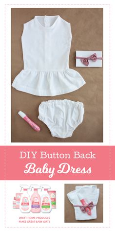 Learn how to make a baby dress from a man's dress shirt. Wrap your finished, handmade creation with a Dreft To-Go Instant Stain Remover Pen and you have the perfect, personal baby gift.