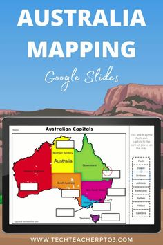 This mapping pack will help your students understand what the Australian states and territories are and where the capitals are located. Students can use the hands-on activities to click and drag the names of the states, territories and capitals. There are also information slides on climate with short answer typing required. #techteacherpto3 #geography #socialstudies #australia #googleslides