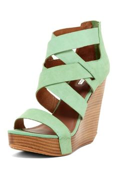 {Stacey Strappy Wedge in Peppermint} Matiko - so many pretty colours!
