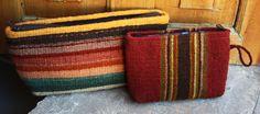 Fair trade, handwoven makeup bag or cosmetic bag by Manos Zapotecas Artisans Josefina and Paco out of Teotitlan del Valle, Oaxaca, Mexico.
