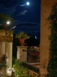 Villa Ducale - Parma, Emilia-Romagna, Italy / Love the lighted cross in the distance