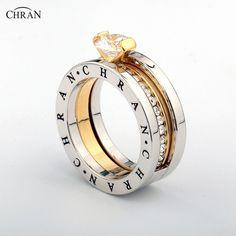 Elegante Oostenrijkse Kristal Vergulde Zirkoon Sieraden Groothandel Klassieke Pave Band Imitatie Diamanten Verlovingsringen Voor Vrouwen
