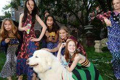 Models at the Stella McCartney Resort 2015 show. Photo By Steve Eichner