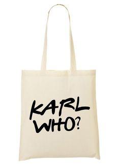 Karl Who font Jutebeutel natur: Amazon.de: Bekleidung