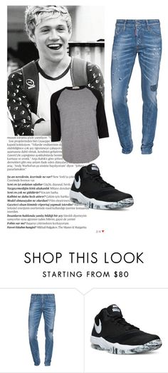 Sin título #789 by ammy-horan-98 on Polyvore featuring River Island, Dsquared2, NIKE, Balmain, men's fashion and menswear