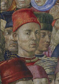 Autoritratto di Benozzo Gozzoli, cappella dei Magi, Firenze ( 1459-1460 circa )