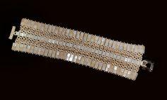 bracciale in tila, perline e swarosky color beige e madreperla