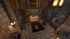 Minecraft Cave House, Minecraft Forge, Minecraft Plans, Minecraft House Designs, Minecraft Survival, Minecraft Blueprints, Minecraft Blacksmith House, Minecraft Interior Design, Minecraft Architecture