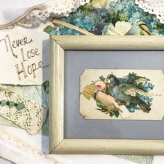 """Never Lose Hope. Always Have Hope. ...This Victorian calling card from the 1800s would make a great Encouragement gift... or get well soon gift.   It will come with a special tag reading, """"Always Have Hope"""" - or a special message from you!!"""