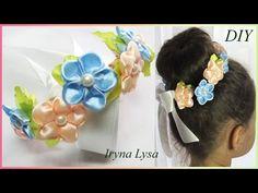 МК: Міні-віночок на пучок (гульку)/Мини-веночек на пучок из цветов…