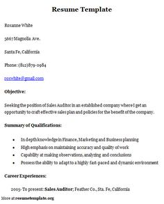 for more and various sample resume templates visit wwwresumetemplateorg find