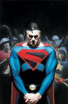 Alex Ross-JSA Superman cover Comic Art