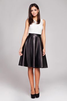 Black Leather Faux High Fashion Skirt LAVELIQ | LAVELIQ Skirt ...