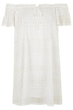 Lace Bardot Dress - Topshop.