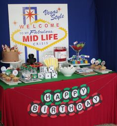 Wants and Wishes: Party planning: Welcome to my Fabulous Midlife Crisis Birthday- Vegas Style