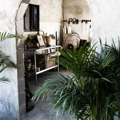 A sheltered breezeway in .Patricia Larsen's Mexican home