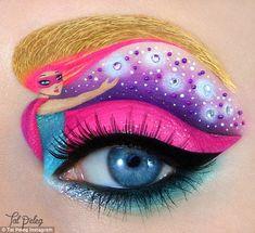 Большая подборка фантазийного макияжа глаз от израильской художницы и визажиста Тел Пелег