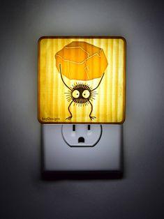 For J's bathroom. Maybe do Calcifer-- Spirited Away and My Neighbor Totoro Sootball - Miyazaki Hayao studio ghibli - Lantern Night Light for bedroom, nursery, bathroom Totoro Nursery, Totoro Bedroom, Miyazaki, House Doctor, Plywood Furniture, Baby Nursery Themes, Baby Playroom, Nursery Ideas, Room Ideas
