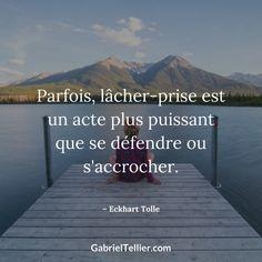 Parfois, lâcher-prise est un acte plus puissant que se défendre ou s'accrocher. #citation #citationdujour #proverbe #quote #frenchquote #pensées #phrases