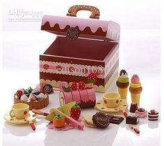 Wholesale Mother Garden Wooden DIY Cake Toy Set Kid's Wooden Toy Kid's Play House Set Best Gift for Kids, Free shipping, $78.38-92.91/Piece | DHgate