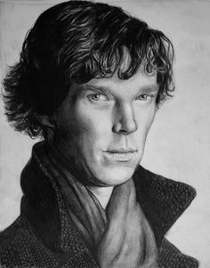 Benedict Cumberbatch as Sherlock Holmes from the BBC Series. Graphite drawing :)