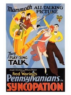 Syncopation, Art Deco, Jazz Movie Poster, 1920s