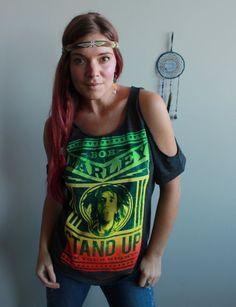 Bob Marley Stand Up Rasta Reggae Eco by MountainGirlClothing