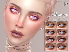 This dramatic under-eye shadow will give Sims a pop of colour and the drama of eye folds.  Found in TSR Category 'Sims 4 Female Eyeshadow'
