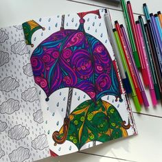 Het derde enige echte kleurboek voor volwassenen: paraplu's