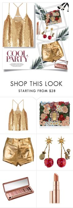 """""""cool party"""" by folloui on Polyvore featuring TIBI, Dolce&Gabbana, Gucci, Urban Decay and Estée Lauder"""