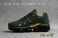 4dd7001ebb 2018 Nike Air Vapormax Plus KPU Mens Running Shoes For Sale Green Black  Golden