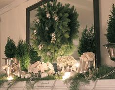 french country cottage a quiet christmas mantel - French Country Christmas Decor