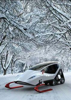 Snow car.