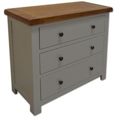 Meriden 3 Drawer Wide Painted Chest of Drawers