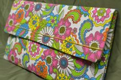 Flower Power Clutch, $25 by Unshattered on Etsy. Your purchase supports women at the Walter Hoving Home rebuilding their lives shattered by addiction. Check us out at Unshattered.org!
