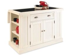 Nantucket Kitchen Island - Sanded and Distressed White