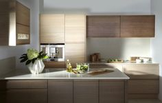 Burbidge's Malmo Kitchen in Natural and Smoked Oak Veneer - Cupboards and Drawers