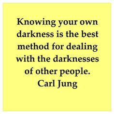 Know your darkness first, then help people
