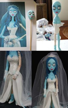 AWESOME! Corpse Bride sugar paste How to
