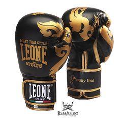 Gants de boxe Leone 1947 'Muay Thaï ' Noir