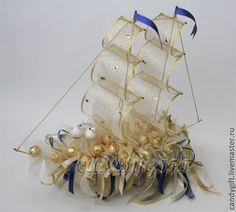 3d Jelly Cake, Chocolate Bouquet, Candy Bouquet, Boat Design, Oceans, Bouquets, Ship, Flowers, Crafts