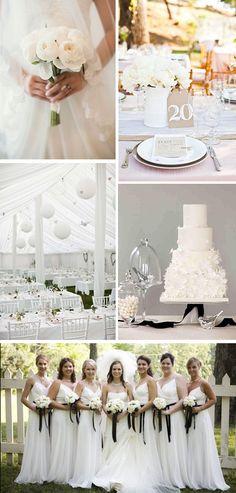 white wedding ideas All White Weddings