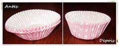 Fofurices: Colocando as forminhas de papel em forma! Clique na foto e vá para o passo a passo.