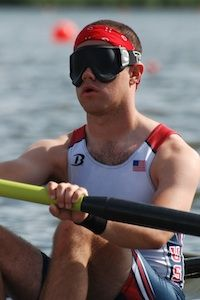 Andrew Johnson is from Connecticut, but has been training in OKC's Boathouse District for the 2012 Paralympic Games in London. He'll compete in the Adaptive Four with Coxswain. He was born blind and has been on the National Team since 2009.